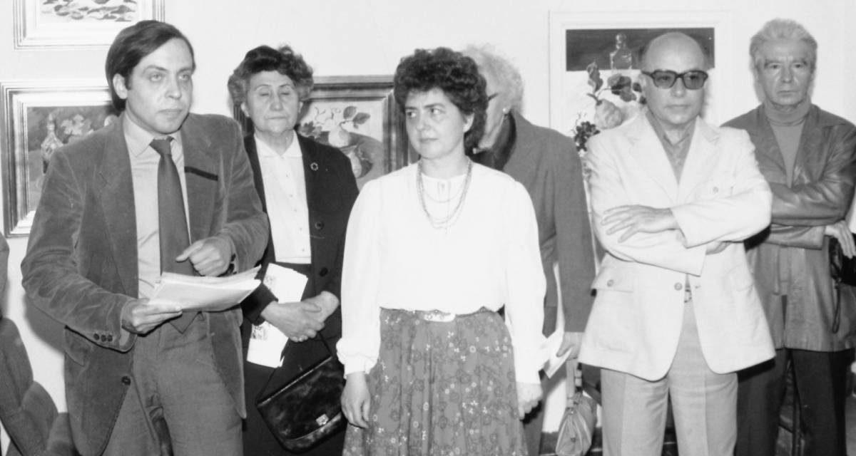 Pictorița Rodica Marinescu, vernisaj, Căminul Artei, București, 1987