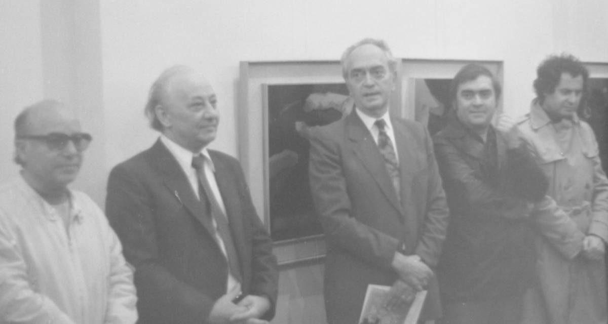 Plasticianul Gheorghe Tofan, gravură pe aluminiu, Galeria Simeza, București, vernisaj, 17 octombrie 1986