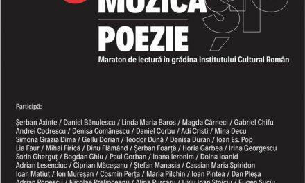Dezbatere despre piața de carte și maraton liric în grădina Institutului Cultural Român