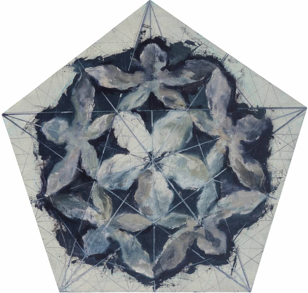 Ciprian Bodea, Organic Geometric, 2017, oil on canvas, 80x84cm