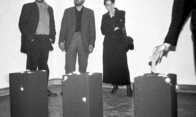 """Dan Mihălțianu, Călin Dan, """"Stare fără Titlu"""", Muzeul de Artă din Timişoara, 1991"""