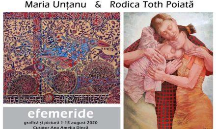 """Expoziție Maria Unțanu și Rodica Toth Poiată, """"Efemeride"""" @ Galeria Simeza, București"""