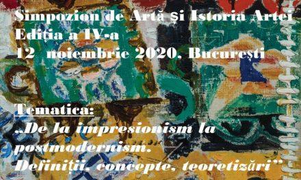 Apel la contribuții pentru Simpozionul de Artă și Istoria Artei, Ediția a IV-a