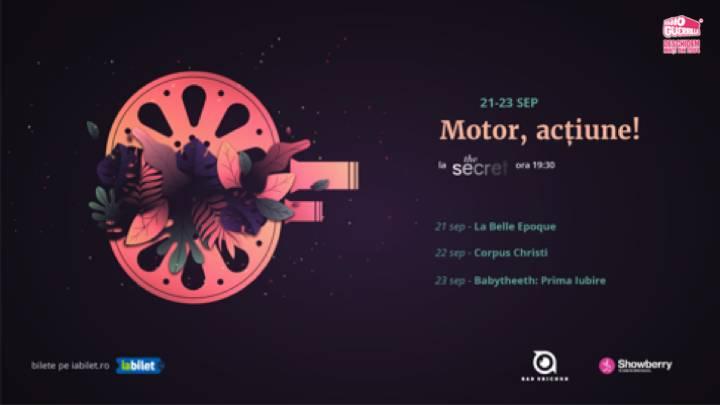 """""""Motor, acțiune!""""; proiecții în aer liber la grădinile The Secret (Ciric), Iași"""