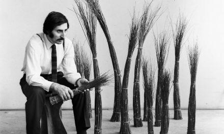 Ilie Pavel în atelier, 1971