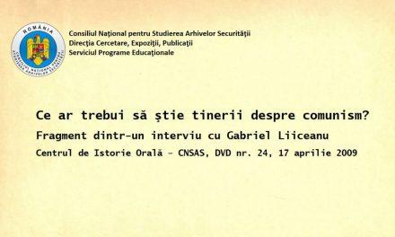 Gabriel Liiceanu – Comunismul pe înțelesul corporatiștilor