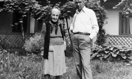 Pictorul Gheorghe Spiridon și mama sa
