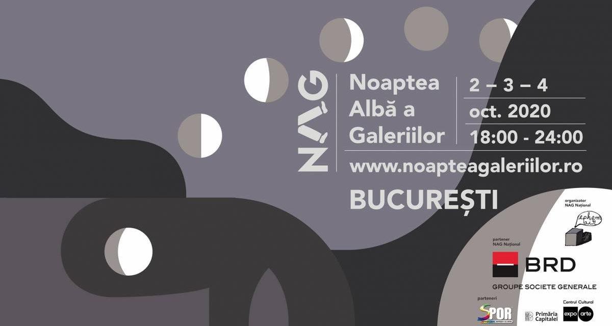 Noaptea Albă a Galeriilor 2020 ține 3 nopți: 02-03-04 octombrie în București și alte 10 orașe