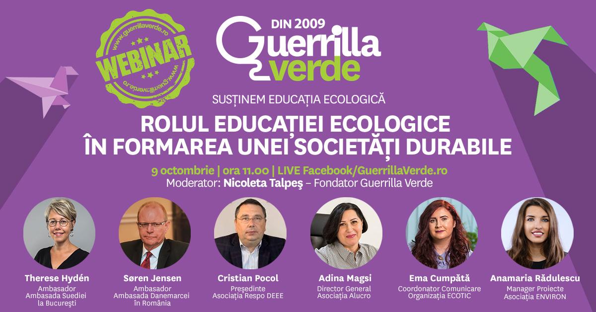 Astăzi se lansează GuerrillaVerde.ro, platformă online dedicată educaţiei ecologice, cu resurse şi webinarii gratuite