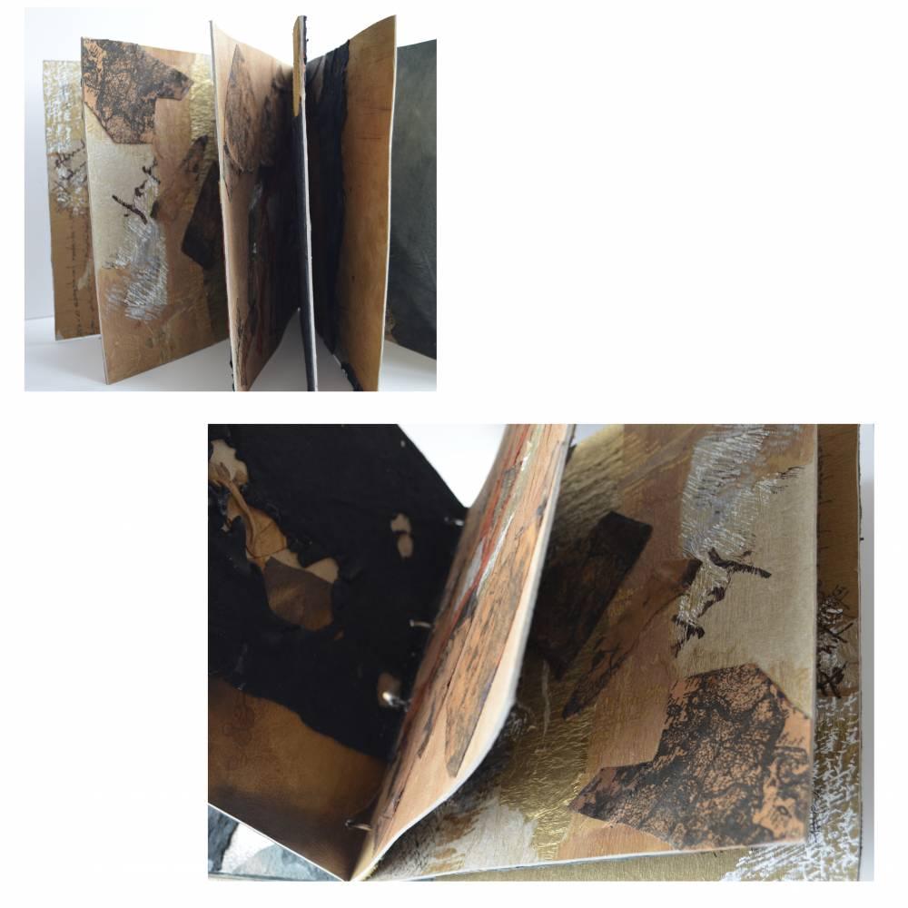 Ana MAria RUGESCU, Inscrisuri - Tainele pamantului, 30X30X4 cm, tehnica mixta