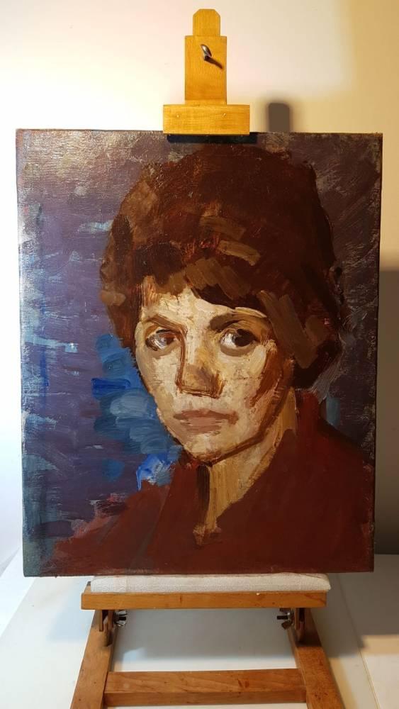 Autoportretul Valentina Rusu Ciobanu (1964), restaurat in 2020