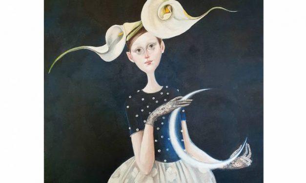 """IULIA ȘCHIOPU, """"Despre Lună"""", la Tiny Griffon Gallery Nürnberg"""
