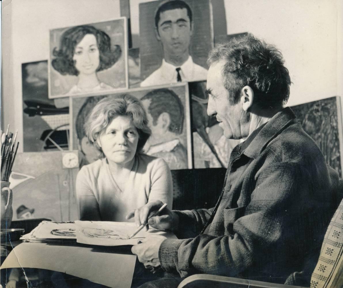 Impreuna cu sotul artistei, Glebus    Sainciuc