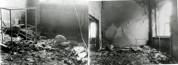 Laboratorul de restaurare pictura de sevalet_MNAR_distrus 1989