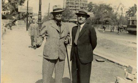 Pictorul Marius Bunescu și sculptorul Cornel Medrea în București, 1935