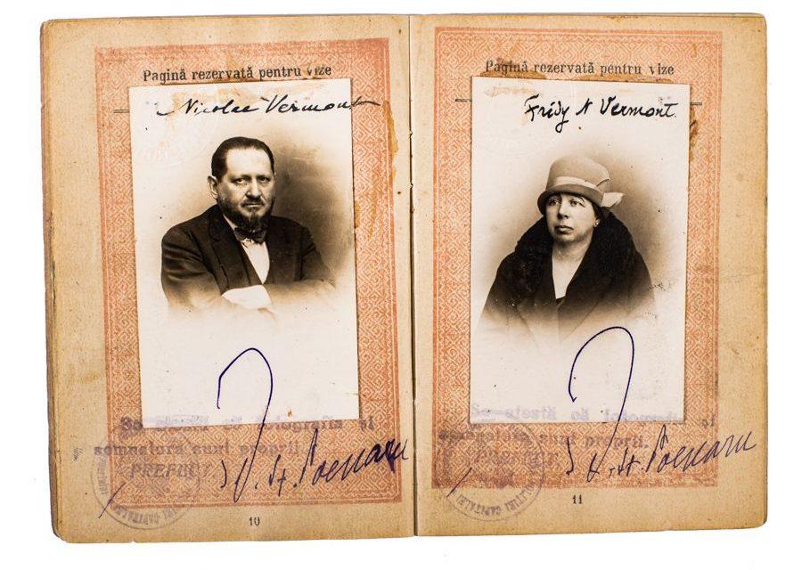 Pașaportul artistului Nicolae Vermont
