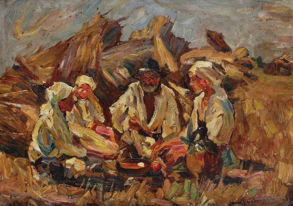 Rudolf Schweitzer–Cumpana, Pausa dal lavoro nei campi