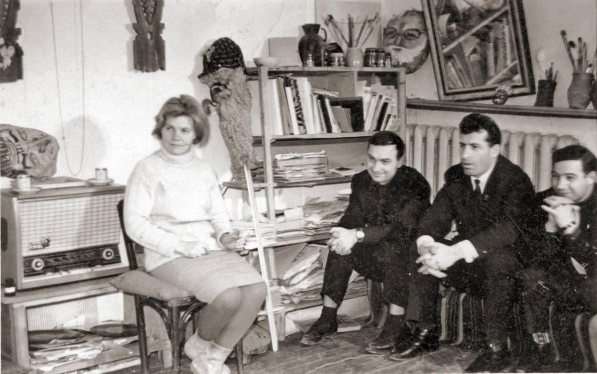 Valentina Rusu Ciobanu, impreuna cu marele scriitor basarabean Ion Druță