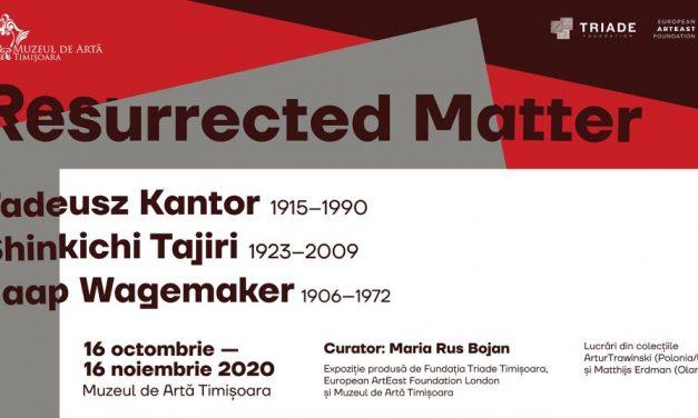 Materie reînsuflețită. Reprezentări postbelice în lucrările lui Tadeusz Kantor, Shinkichi Tajiri și Jaap Wagemaker @ Muzeul de Artă din Timișoara