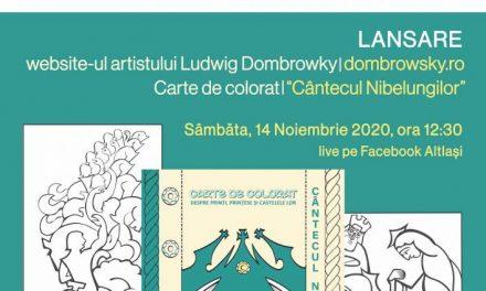 """Lansarea site-ului dedicat artistului Ludwig Dombrowsky și a cărții de colorat """"Cântecul Nibelungilor"""""""
