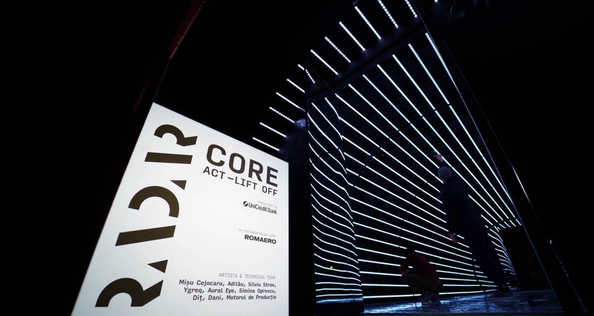 CORE- Act LIFT OFF – instalație de new media art la RADAR 2021
