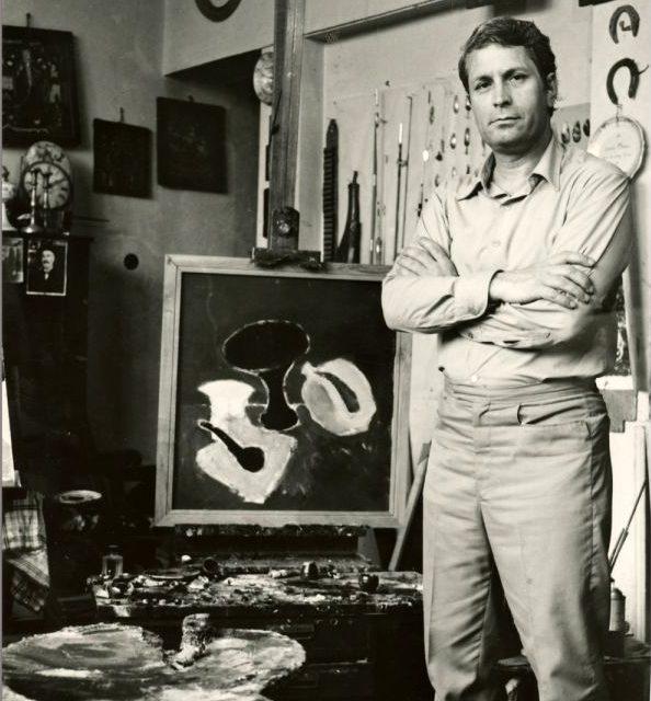 Ion Pacea în atelier, fotografie de Clara Spitzer