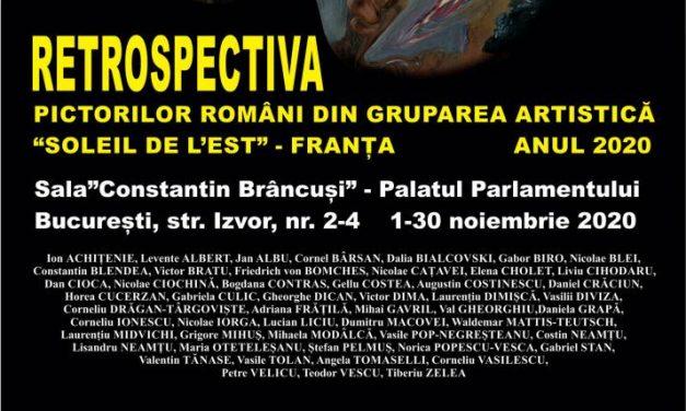 Retrospectiva pictorilor români din gruparea artistică Soleil de l'Est – Franța, anul 2020 @ Sala «Constantin Brancuși», Palatul Parlamentului, București