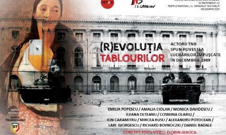 (R)EVOLUȚIA TABLOURILOR. Actorii TNB spun poveștile lucrărilor împușcate în decembrie 1989 – proiect online și expoziție pe gardul MNAR