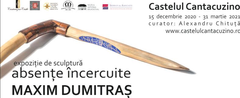 """Expoziție de sculptură Maxim Dumitraș """"Absențe încercuite"""" @ Castelul Cantacuzino Bușteni"""