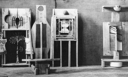 "Ion Stendl, Teodora Moisescu Stendl, Radu Dragomirescu și Radu Stoica, ""Cele patru elemente"", Biennale de Paris, 1969"