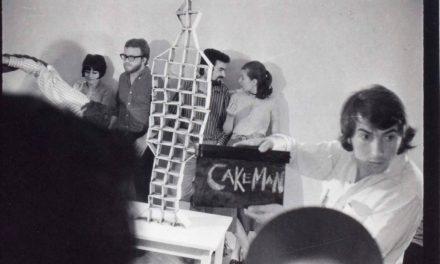 Paul Neagu, Cake Man, performance fotografii documentare ale acțiunii desfășurate la București, în atelierul lui Iulian Mereuță 1971