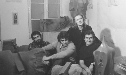 În atelierul ceramistului Costel Badea alături de Țumpi Rădulescu și Mihai Tomșeneanu