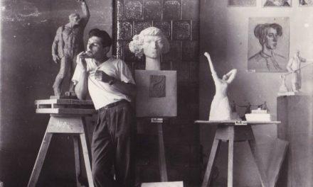 Studentul Nicăpetre (Petrică Bălănică) în atelier