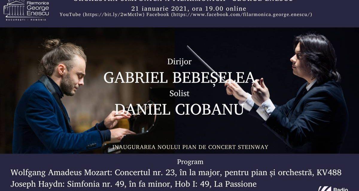 """Triplă premieră: Gabriel Bebeșelea, dirijor principal, și Daniel Ciobanu, artist în rezidență, inaugurează printr-un concert live excepțional noul pian al Filarmonicii """"George Enescu"""""""
