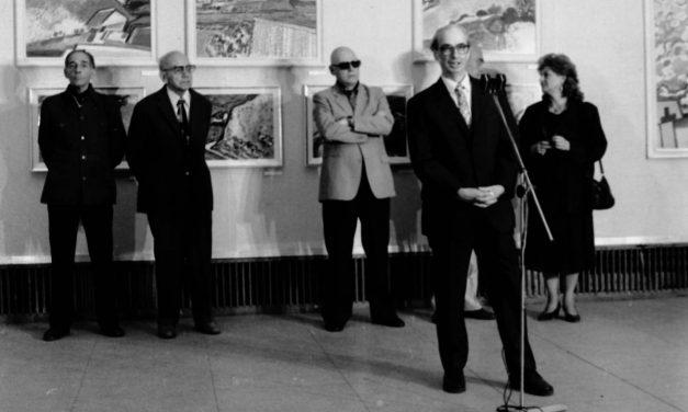 Vernisaj Expoziție Brăduț Covaliu, sala Dalles, București, 1989