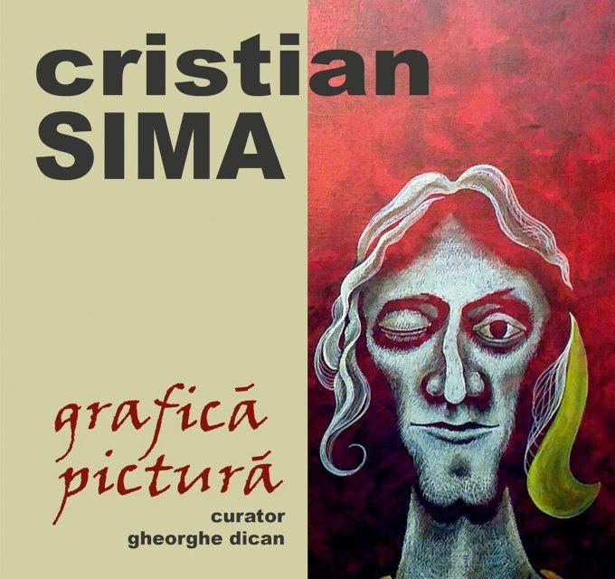 """Expoziția de grafică și pictură a artistului plastic Cristian Sima la Galeria """"ARTIS"""" a Muzeului Județean Olt"""