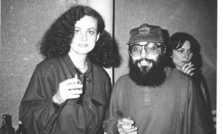 Klara Tamas împreună cu Harry Tavitian la Muzeul de Artă Constanța, 1985