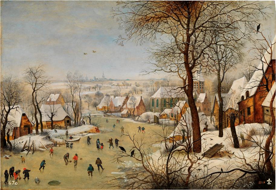 Peisaj de iarna Bruegel cel Tanar