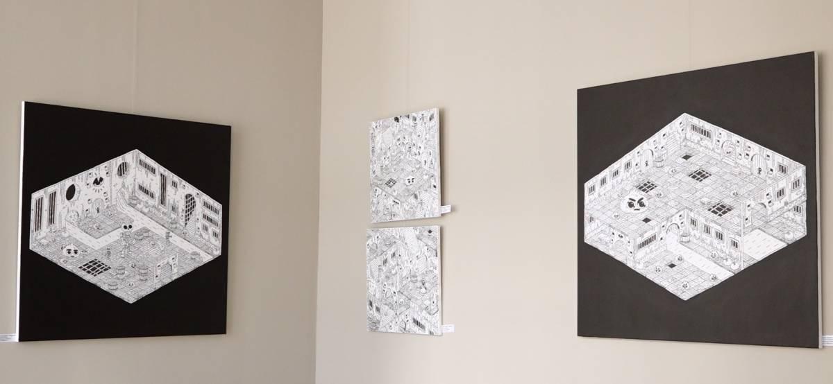"""Expoziția """"Între patru pereţi"""" a artistului Cătălin Gopodin, la Galeria SENSO, București"""