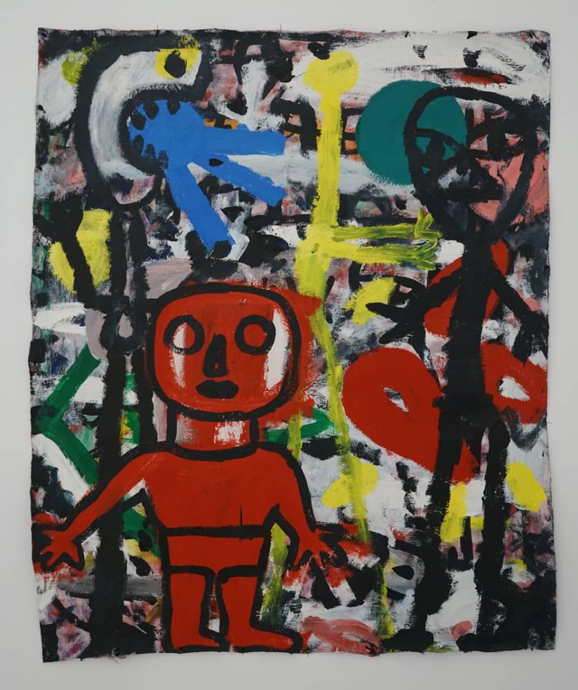 Aproapele, 132 x 110 cm, acrilic pe pînză , 2019_giuliano nardin
