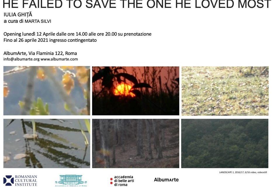 """Expoziție Iulia Ghiță: """"He Failed To Save the One He Loved Most"""" @ Galeria de artă Albumarte din Roma"""