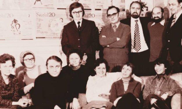 Redacția revistei Secolul 20 în 1979