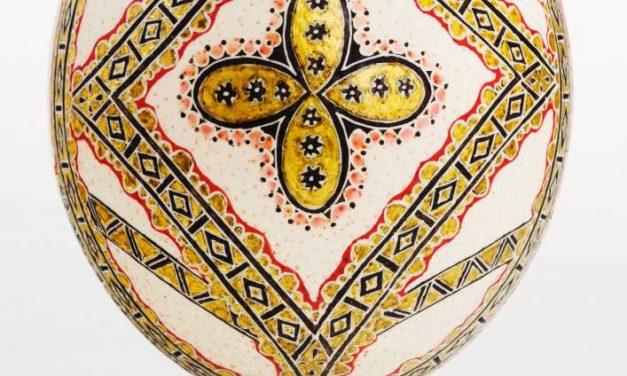 De Rândul Paștilor Expoziţia de icoane încondeiate pe ouă de struț @ Muzeul Naţional al Ţaranului Român