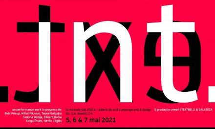 """""""INT. EXT."""" – un spectacol-manifest despre condiția artistului în pandemie, LIVE în vitrinele Galateca"""