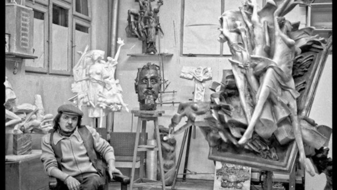 Sculptorul Radu Dămăceanu, 1980