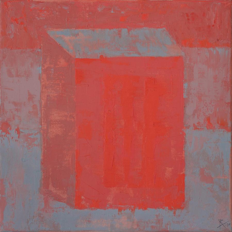 2020 Red Brick I 40x40 cm huile sur toile