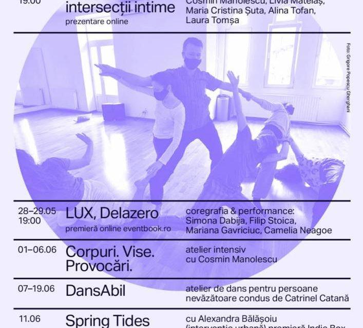 Stagiunea AREAL – 4 Corpuri   2 premiere, 2 ateliere, AREAL Lounge si alte evenimente de dans contemporan