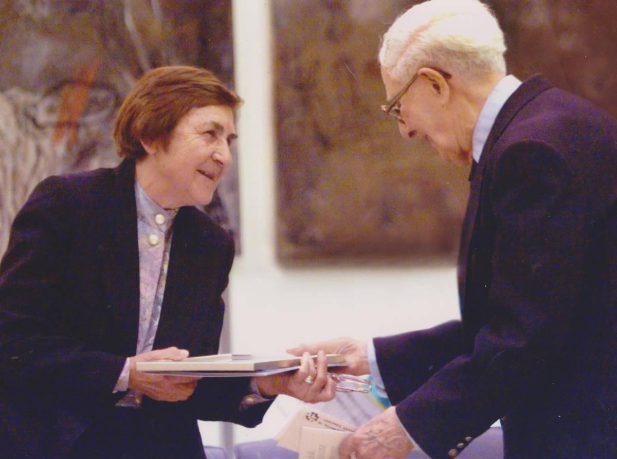 Decernarea Premiului UAP: Florica Cruceru cu Brabu Brezianu, 2000
