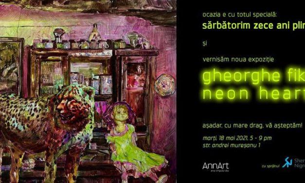 "Gheorghe Fikl ""Neon Heart"" @ Galeria AnnArt din București"