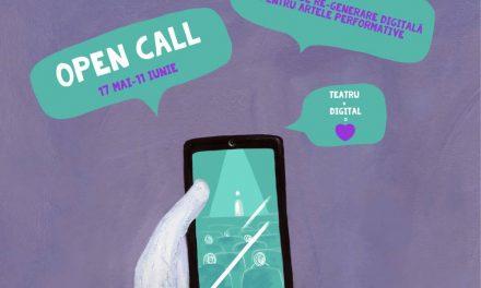 OPEN CALL – Laboratorul de Re-Generare Digitală pentru Artele Performative